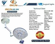 Delta Led 500 Operation Theater Lamp Ceiling Wall Mount Euro Sterilizable Handle