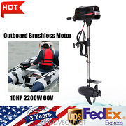 10hp Electric Outboard Brushless Motor Fishing Boat Engine 2.2kw Tiller Control