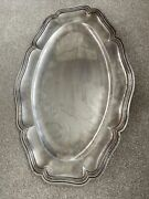 Antique French Solid Silver Serving Platter By Alphonse Berthier Of Paris