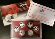 2009 Us Mint Dc And Us Territories Quarters Silver Proof Set 6 Coin
