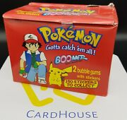 Pokemon Boomer Sticker Cards Booster Box Official Nintendo 1999 25 Ct. Sealed