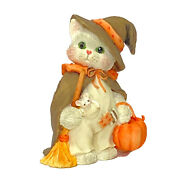 Calico Kittens Iand039m Bewitched With Friendship Figurine With Box 144258 Cat Witch