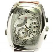 Citizen Campanora Ctr57-0901 Menand039s Watch Small Seconds Power Reserve Quartz