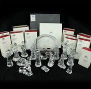 Waterford Crystal 17 Pc Nativity Set With Boxes