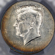 1967-p Kennedy Half Dollar Pcgs Ms64 Beautiful Silver Toned Coloring Unc Mr