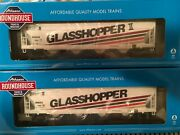 Athearn Roundhouse Ho-scale 5250cf Covered Hoppers, Glasshopper And Glasshopper Ii