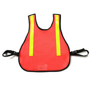 Randb Fabrications 003l-or Traffic Safety Vest With Reflectiveora