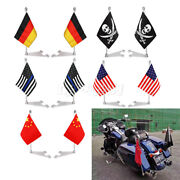 Easy Install Universal Flag Pole Luggage Rack Mount Fit All Most Model Motorbike