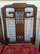 Asian 4 Dining Chairs Hollywood Regency Japanese Chinese Chippendale Korean Ming