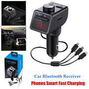 Multifunction Car Mp3 Bluetooth Receiver Transmitter Cell Phone Usb Fast Charger