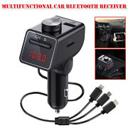 Multifunctional Car Bluetooth Receiver Cell Phone Smart Fast Charging Universal