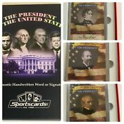 Authentic Handwritten Word Card By Potus - Sportscards -pick Your Card