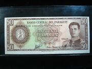 Paraguay 50 Guaranies L 1952 1963 Sharp 500 Bank Currency Money Banknote
