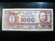 Paraguay 1000 Guaranies L 1952 1963 Sharp 4484 Bank Currency Money Banknote