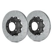 For Porsche 911 10-12 Brake Rotors Gt Series Curved Vane Type Iii Slotted