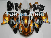 Gold Black Abs Complete Injection Fairing Fit For 06-11 Ninja Zx14 2006-2011 Wbz