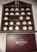 1981 Franklin Mint Antique English Silver Miniature Plates 23 Of 25 W/display