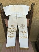 Authentic Germany Ww1 Fallen Soldier Banner Ribbon Honour Memory Iron Cross