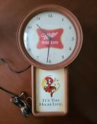 Vintage Miller High Life Lighted Clock Sign Beer Girl On Moon 1999 Union Made
