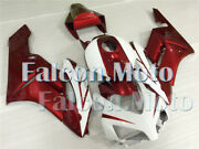 Pearl Red White Injection Plastic Kit Fairing Fit For 2004 2005 Cbr 1000rr Jah