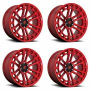 4x Fuel 20x10 D719 Heater Wheels Candy Red Machined 6x5.5 / 6x139.7 -18mm 4.79