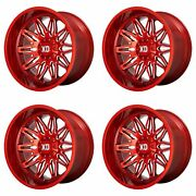 4 Xd Series 22x12 Xd859 Gunner Wheels Candy Red Milled 5x5/127/5.5/139.7 -44mm