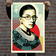 Obey Giant A Champion Of Justice Ruth Bader Ginsburg 24x36 Large Screen Print