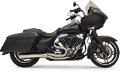 Short Road Rage Iii Stainless 2-into-1 Exhaust - Harley Fl Touring 2007-2016