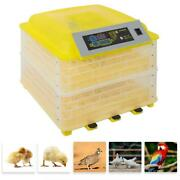 96 Eggs Chicken Goose Incubator Automatic Egg Incubator Clear Hatching Chicken