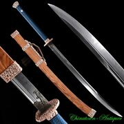 Yanling Sword Knife Chopping Horse Saber T10 Steel W Clay Tempered Sharp 3022
