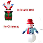 Inflatable Toy 180cm Decoration Snowman Sitting Santa Claus Party Indoor Holiday