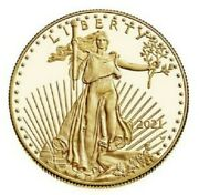 Last Design American Eagle 2021 One Ounce Gold Proof Coin 21eb - In Hand