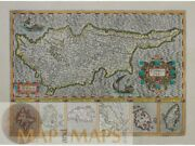 Cyprus Insula Cyprus Greek Islands Janssonius Map 1638
