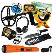 Garrett Ace 400 Metal Detector Pro-pointer At Pinpointer And Edge Digger