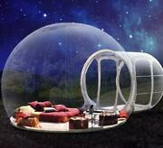Portable Clear Transparent Inflatable Bubble Air Dome Home House Tent Camping