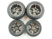 New Traxxas Bandit Vxl Front And Rear Alias Tires Tracer 2.2 Black Chrome Wheels