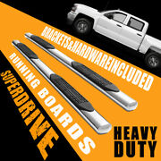 Super Drive 4 Side Step Running Boards Fit 2007-2018 Chevy Silverado Crew Cab
