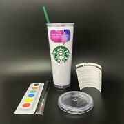 🔴 Starbucks Paint On Me Tumbler 24oz Double Wall Acrylic Venti Cold Cup Rare