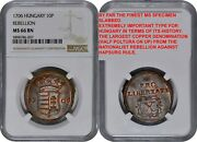 Ngc Ms66 1706 Hungary 10 Poltura Rebellion Coin-much The Finest Known Super Gem+