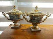 Sevres French Vases Hand Painted 8 S Marked