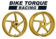 O.z. Piega Gold Superlight Alloy Wheels To Fit Ducati 800 Monster S2r 05-08