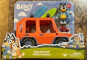 Bluey Heeler 4wd Family Vehicle Car Includes Bandit Figure And 2 Surf Boards