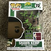 Shawn Kemp Signed Funko Pop Reign Man Limited Edition Seattle Supersonics