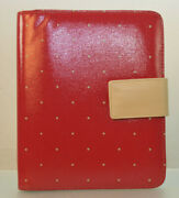 Franklin Covey 7-ring Classic Size Planner Binder Only Model 33122.677 Red