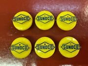 Vintage 1960 's 1970 's Sunoco Logo Battery Cap Top Cell Cover Gas Oil Accessory