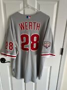 2009 Jayson Werth Team Issued Phillies Road World Series Jersey Signed Mlb Auth