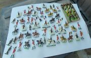 Lot Of British Colonial Painted Toy Soldiers Board Game Vintage Style Pieces