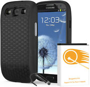 Urs2go Extended 7570mah Battery Tpu Back Cover Case F Samsung Galaxy S3 I747 Usa