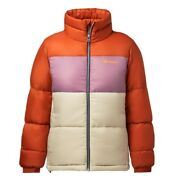 Cotopaxi Womenand039s Solazo Colorblock Puff Down Jacket Cayenne/plum - Small Nwt