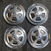 Amc Rambler American Oem Set Of 4 14 Hub Cap Wheel Cover 1967 Excellent